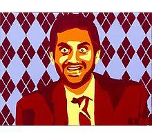 But Boo! Tom Haverford, Aziz Ansari, Parks and Rec., Street Art, Stencil Photographic Print
