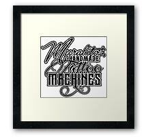 """Murabito""""s Handmade Tattoo Machines in black Framed Print"""
