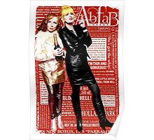 Absolutely Fabulous, Sweetie! Darling! Patsy and Edina. Ab Fab typography quotes. abfab. BBC Poster