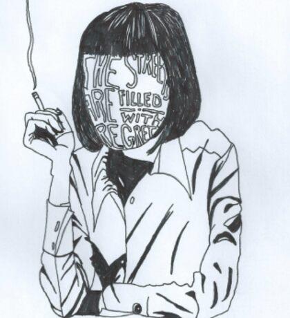 Uma Thurman fan art  Sticker