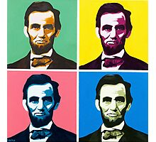 Abe, Abraham Lincoln, Painting, Warhol Photographic Print