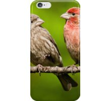 Pair of House Finches in a Tree iPhone Case/Skin