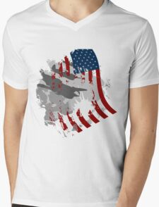 Flag Wave Mens V-Neck T-Shirt
