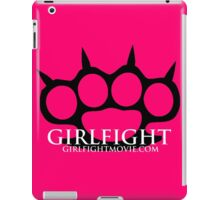 GIRLFIGHT - Black Brass Knuckles on Pink iPad Case/Skin