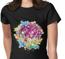 KRW Fantasy Disco Music Ball Womens Fitted T-Shirt