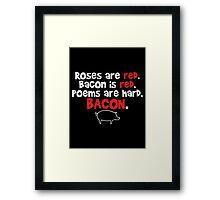 bacon red Framed Print