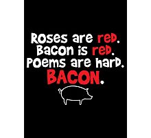 bacon red Photographic Print
