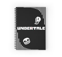 Undertale - Bone Wave Spiral Notebook