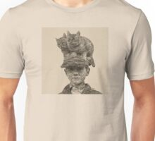 Cats On My Hat, Digital Drawing Unisex T-Shirt