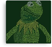 It's not easy, bein' Kermit Canvas Print