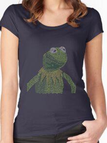 It's not easy, bein' Kermit Women's Fitted Scoop T-Shirt