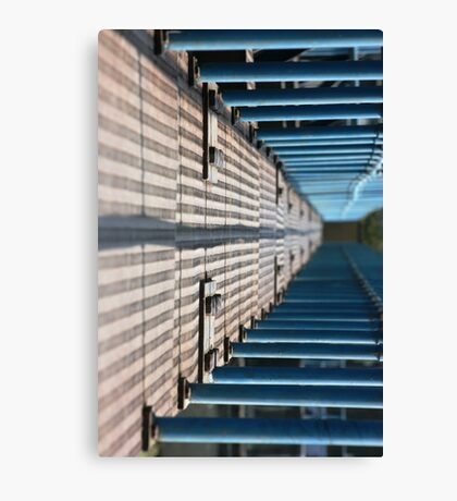 bridge over the pool with the blurred background Canvas Print