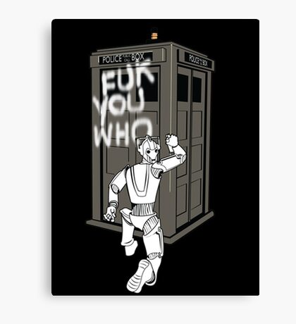 Dr Who 2 Canvas Print