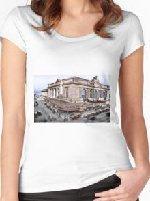 Colorized New York Grand Central 1908-1910 Women's Fitted Scoop T-Shirt