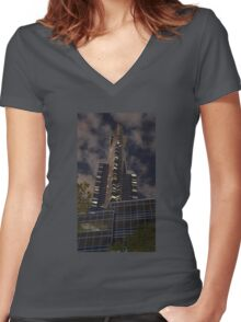 Eureka at Night Women's Fitted V-Neck T-Shirt