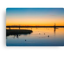 Sunset at Chambers Creek Canvas Print