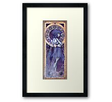 Lapis Lazuli Mucha Framed Print