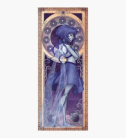 Lapis Lazuli Mucha Photographic Print