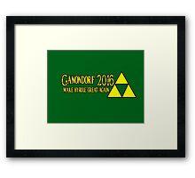 Ganondorf - Make Hyrule Great Again Framed Print