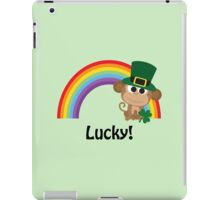 Cute Lucky Monkey Leprechaun iPad Case/Skin