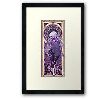 Amethyst Mucha Framed Print