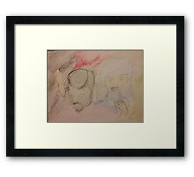 Fresh juice and blueberry lips Framed Print