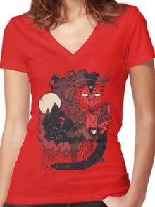 Leader of the Pack Women's Fitted V-Neck T-Shirt