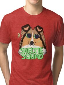 SHELTIE SQUAD (sable) Tri-blend T-Shirt