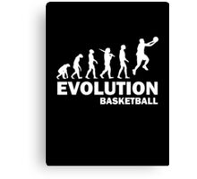 Evolution Basketball Canvas Print