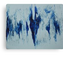 blue strokes Canvas Print