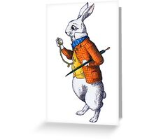 The White Rabbit Greeting Card