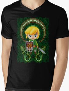 Cute Link Egg Head Mens V-Neck T-Shirt