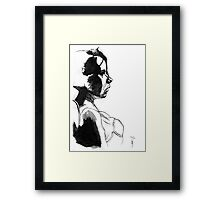 Girl - Pen & Ink drawing Framed Print