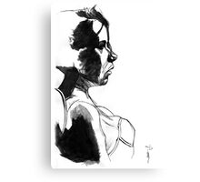 Girl - Pen & Ink drawing Canvas Print