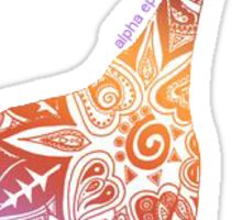 sorority giraffe Sticker