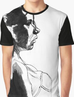 Girl - Pen & Ink drawing Graphic T-Shirt