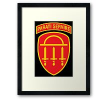 Georgia State Defense Force Insignia Framed Print