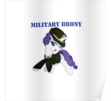 1AP Rarity Military Brony Poster