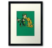 Irish Leprechaun Tossing Lucky Cookies Framed Print
