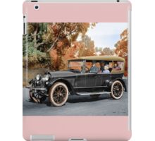 Colorized 1920  Haynes Touring Car with passengers  iPad Case/Skin