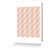 Pastel Chevron Pattern Greeting Card