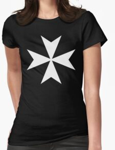 Cross of the Knights Hospitaller Womens Fitted T-Shirt