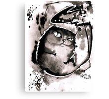 Black ink cat Canvas Print