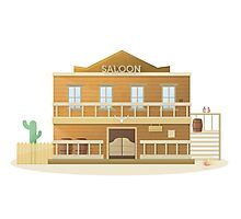 Western Saloon Photographic Print
