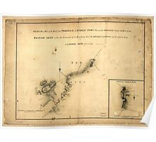 American Revolutionary War Era Maps 1750-1786 876 Sketch of part of the road from Freehold to Middle Town shewing the skirmish between the rear of the British Poster