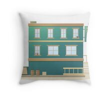 Western Hotel Throw Pillow