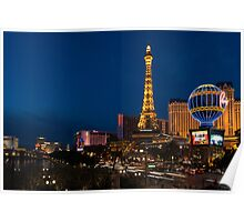 Las Vegas Blue Hour - Streaking Down the Strip in a Neon Rush Poster