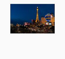 Las Vegas Blue Hour - Streaking Down the Strip in a Neon Rush Unisex T-Shirt