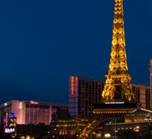 Las Vegas Blue Hour - Streaking Down the Strip in a Neon Rush Sticker