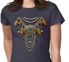 Necklace Womens Fitted T-Shirt
